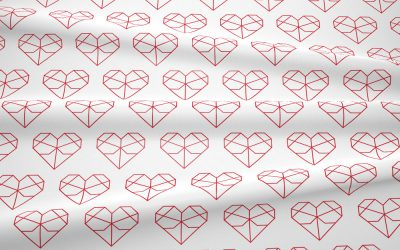 Kolekcja geometryczne serca