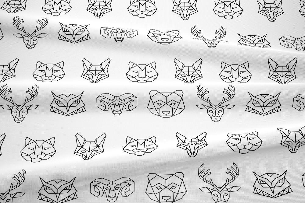 Kolekcja geometryczne zwierzęta