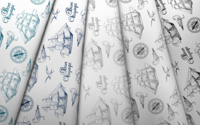 Collection de voiliers et de goélands