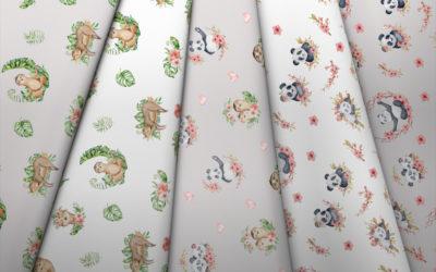 Collection de pandas et de paresseux