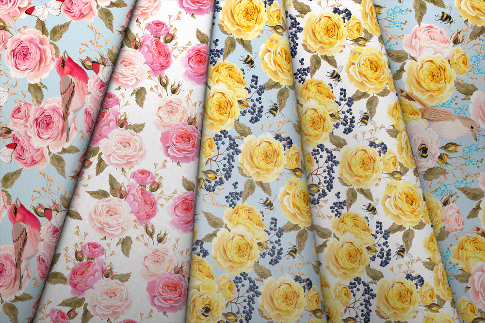 Kolekcja perfekcyjne róże i ptaszki