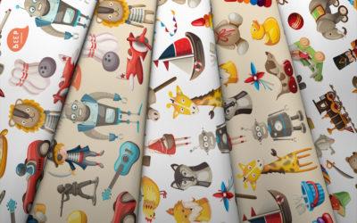 Collection de jouets rétro