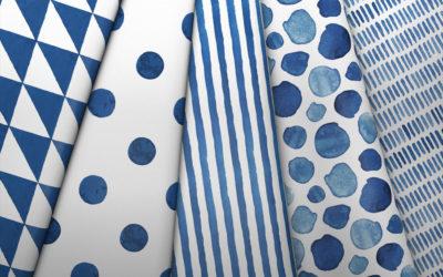 Tissus bleu classique